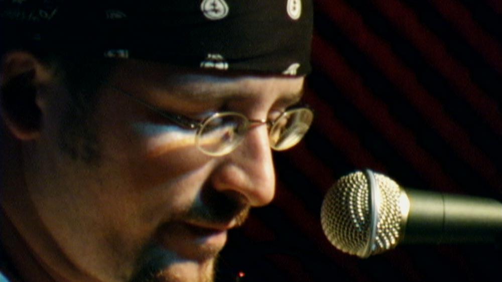 Nathan Davis performing live.