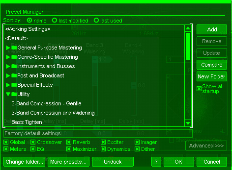 Check out Ozone's presets before you do anything else. Scroll through your options to find what will suit your needs the best.