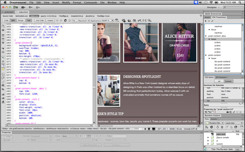 how to develop a website using dreamweaver