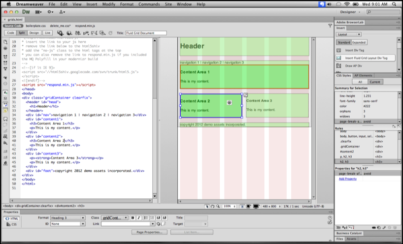Dreamweaver CS6 now integrates with other Adobe products such as Phone Gap and Business Catalyst to give a more comprehensive user experience.