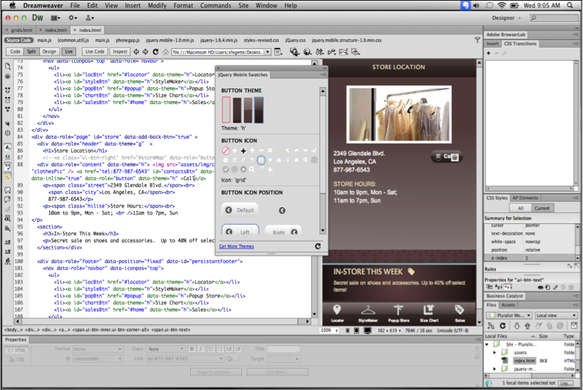 Design apps for the iPhone even more seamlessly with Dreamweaver CS6.