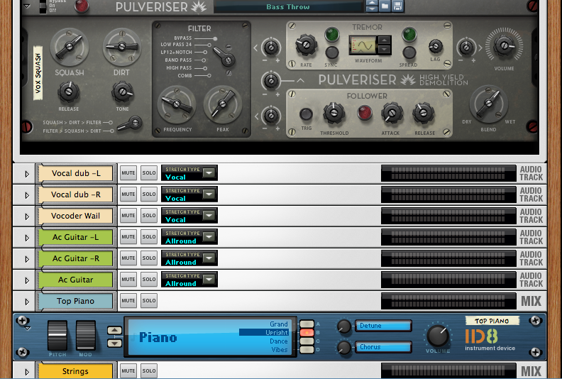 Pulveriser is one of three new rack additions in Reason 6.5.