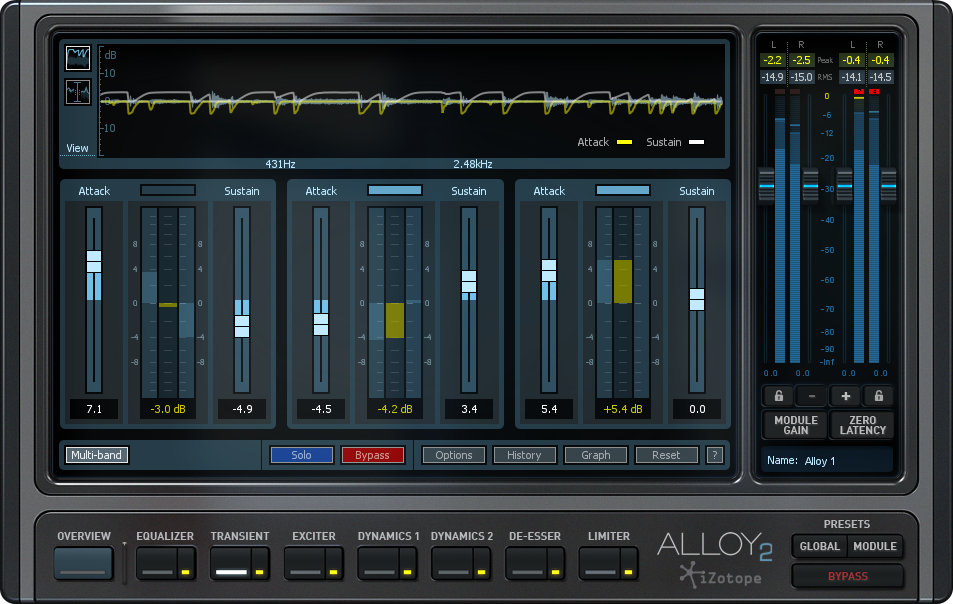 Alloy 2 sports 7 distinct audio effects in one easy-to-use plugin.