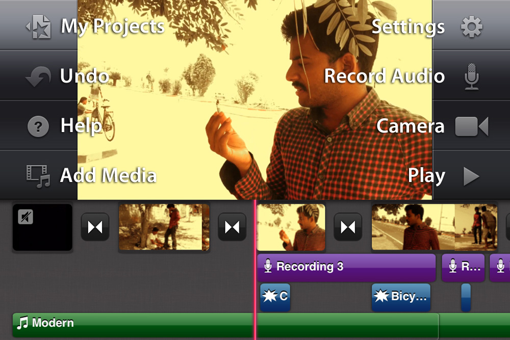 how to add sound effects to imovie