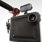The Padcaster allows attachment of a variety of filmmaking accessories to an ipad.