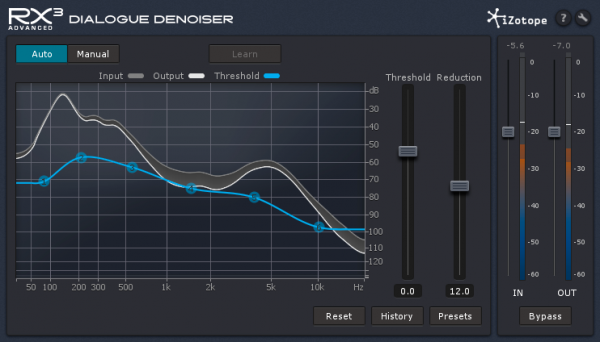 Only in RX3 Advanced, Dialogue Denoiser seems to have a brain of its own, determining which frequencies belong to the human voice and tuning out the rest, leaving film makers with crisp dialogue audio.