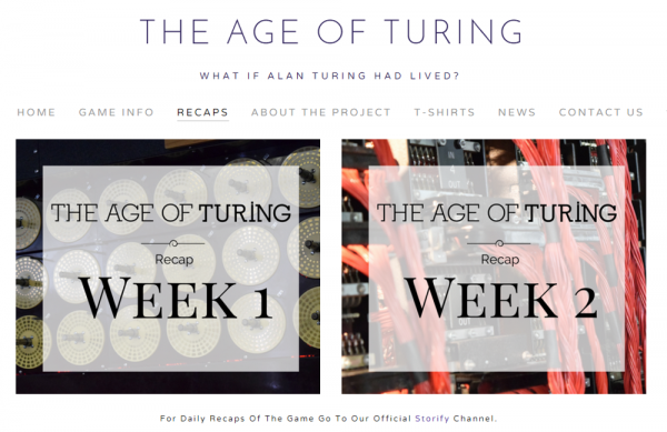 Age of Turing is using Storify in its actual initial distribution, allowing an ending most people would have liked to have seen for 'The Imitation Game.'