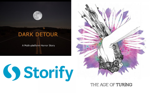 Storify has been used heavily by both Dark Detour and The Age of Turing.