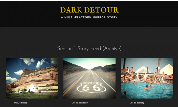 Dark Detour used Storify to collect season 1 in a single location so they can crowdfund season 2.