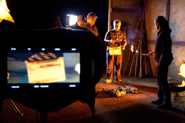 Urban Sodium gel provides the grungy orange light for the flaming arrows scene, just as it did last November.