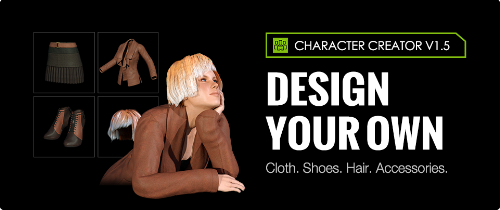 New way to create dress design 3d characters for 3d creator online