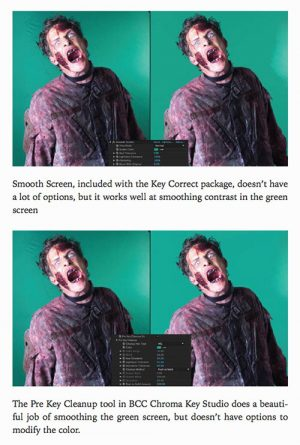 Greenscreen Made Easy 4 Panel Example