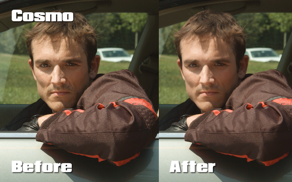A quick before and after of the Cosmo Effect