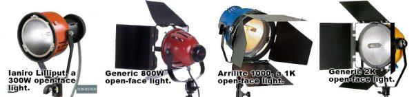 Open Face Tungsten Lamps