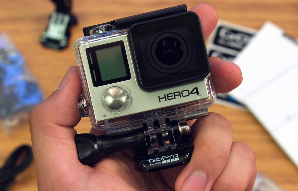 The GoPro Hero4 Black Action Camera