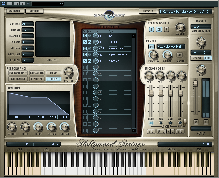 Hollywood Strings offers a simple, one-screen user interface to help filmmakers make music quickly!