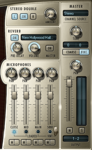 Mix between 5 microphone sources to achieve that exact sound you're looking for.